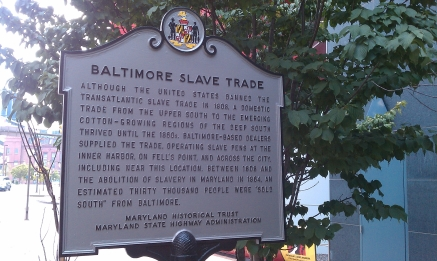 Baltimore Slave Trade Marker